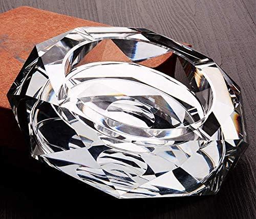 葉巻灰皿, 欧州のクリスタルガラスのパーソナリティクリエイティブリビングルームワイドファッションハイエンドオフィスホーム18X17.5X19cm