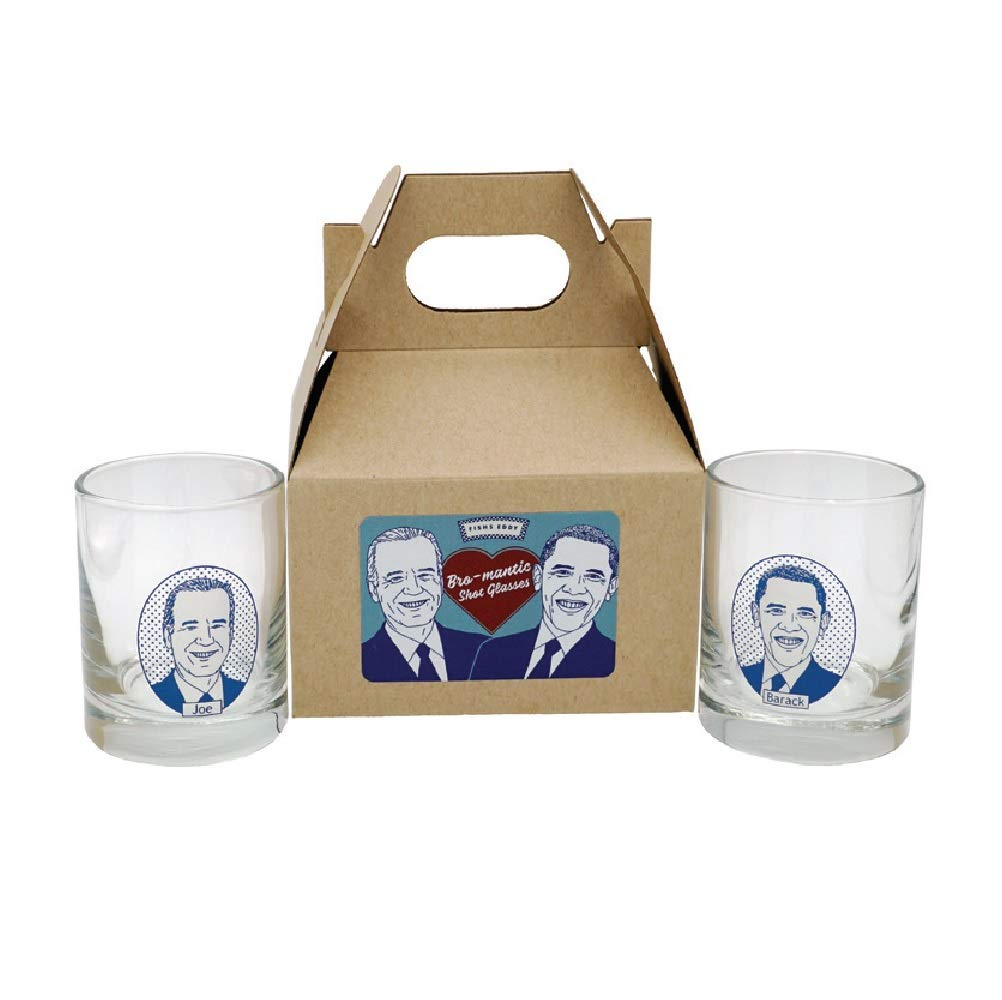 Fishs Eddy Barack Obama and Joe Biden Bromance Shots Gift Box