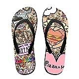 WXDKL Flip Flops Large Pizza Slippers For Women Men Kids