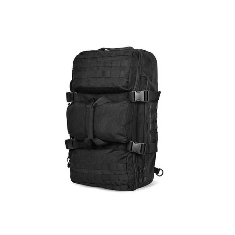 屋外の戦術的な登山バッグ、特別な軍の熱狂的な戦術的なバックパック男性と女性の旅行キャンプのバックパックの戦闘パッケージ B07RXGWCJN Black 56-75L