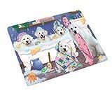 Rub A Dub Dogs in A Tub Great Pyrenees Dog Blanket BLNKT130557 (50x60 Plush)
