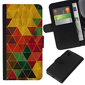 EJOY---La carpeta del tirón la caja de cuero de alta calidad de la PU Caso protector / LG Nexus 5 D820 D821 / --Color Triángulos