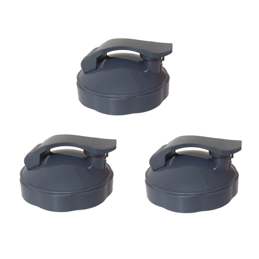 Blendin Replacement Parts, Compatible with Nutribullet 600W and 900W Blender Juicer (3 Flip Top To-Go Lids)