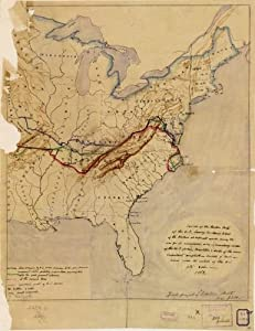 Amazoncom Map Sketch Of The Eastern Part Of The US - Us map sketch