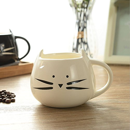 Cute Cat Coffee Milk Tea Drink Ceramic Mug Cup White Lover Kid Gift