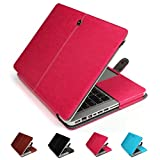 """GranVela MacBook Notebook Premium Quality PU Leather Sleeve bag, Skin Case Cover for Apple 15"""", 15.4"""" inch Macbook Pro with Retina Display-Pink"""
