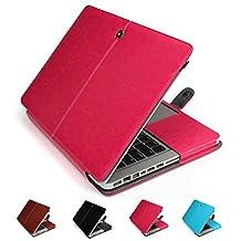 "GranVela MacBook Notebook Premium Quality PU Leather Sleeve bag, Skin Case Cover for Apple 12"" inch Macbook Retina-Pink"