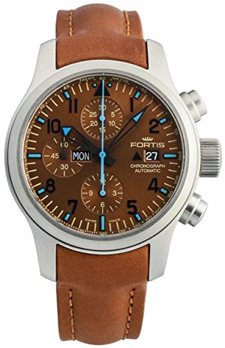 Limited Edition Fortis B-42 Aeromaster Blue Horizon Automatic Chrono Mens Watch Date 656.10.95 L.28