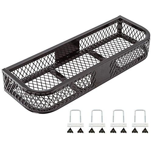 Rage Powersports ATVFB-3713 Black Front Mesh ATV Rack Basket (Atv Front Basket)