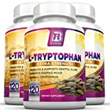 BRI Nutrition L-Tryptophan - 1500mg Servings - 3-Pack of 120 Count of L Tryptophan - 500 mg per Capsule