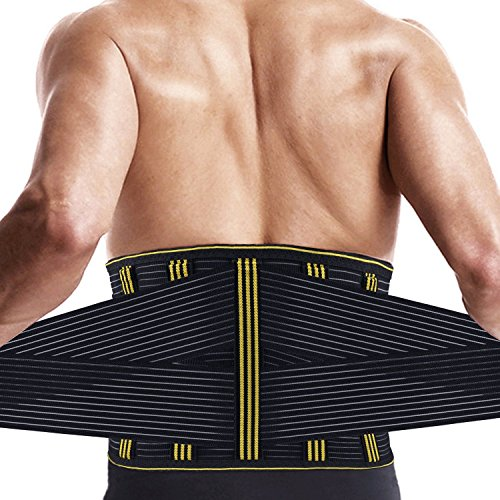 SZ CLIMAX Back Braces Low Back Pain Relief Belt, Adjustale Lumbar Back Support w/Detachable Steel Stays for Workout,Sitting,Lifting,Daily Ware DD1-120