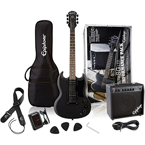 epiphone-sg-performance-solid-body-electric-guitar-package-pitch-black-satin-finish