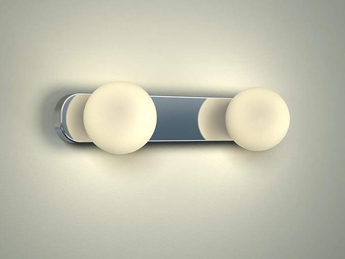 Specchio luce cromo g9 fino a 40 w 230 v metallo & vetro lampada da
