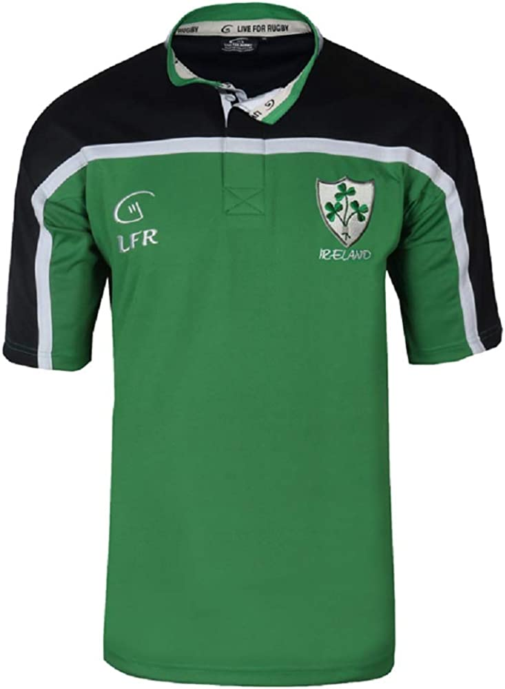 Shamrock Tulsa Mall Ireland Short Sleeve Jersey discount Breathable Rugby