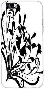 Snoogg Floral Silueta Esquina Diseñador Protectora Volver Funda Para El Iphone 6