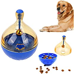 PyLios(TM) L Size Pets Dog Tumbler Leakage Food Ball Puppy Pet dogs cats Training Exercise Fun Bowl Tasty Toy Bell Cachorro Dog Feeder