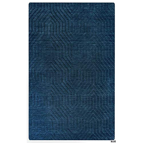 Rizzy Home TECTC857600090912 Technique Collection Hand-Loomed Area Rug, 9' x 12', Navy ()