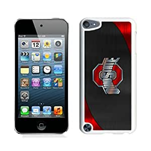 Newest And Fashionable iPod Touch 5 Case Designed With Ncaa Big Ten Conference Football Ohio State Buckeyes 15 White iPod Touch 5 Screen Cover High Quality Cover Case