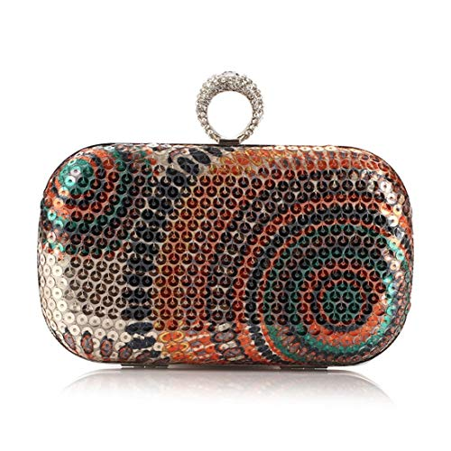 Clutch Party Bag Purse Handbag Evening Gold Women's Colorful JESSIEKERVIN fqXxAwO1W