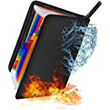 Fireproof Expanding File Folder 13 Pockets, ForTomorrow Waterproof Document Bag Filing Folder Document Organizer…
