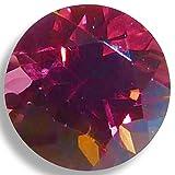 Natural Rhodolite Rose Round Brilliant Loose Unset Gem (4mm)