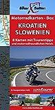 Motorradkarten-Box Kroatien | Slowenien: Acht Tourenkarten für Motorrad-Reisende (Motorradkarten-Box / Tourenkarten für Motorradfahrer)