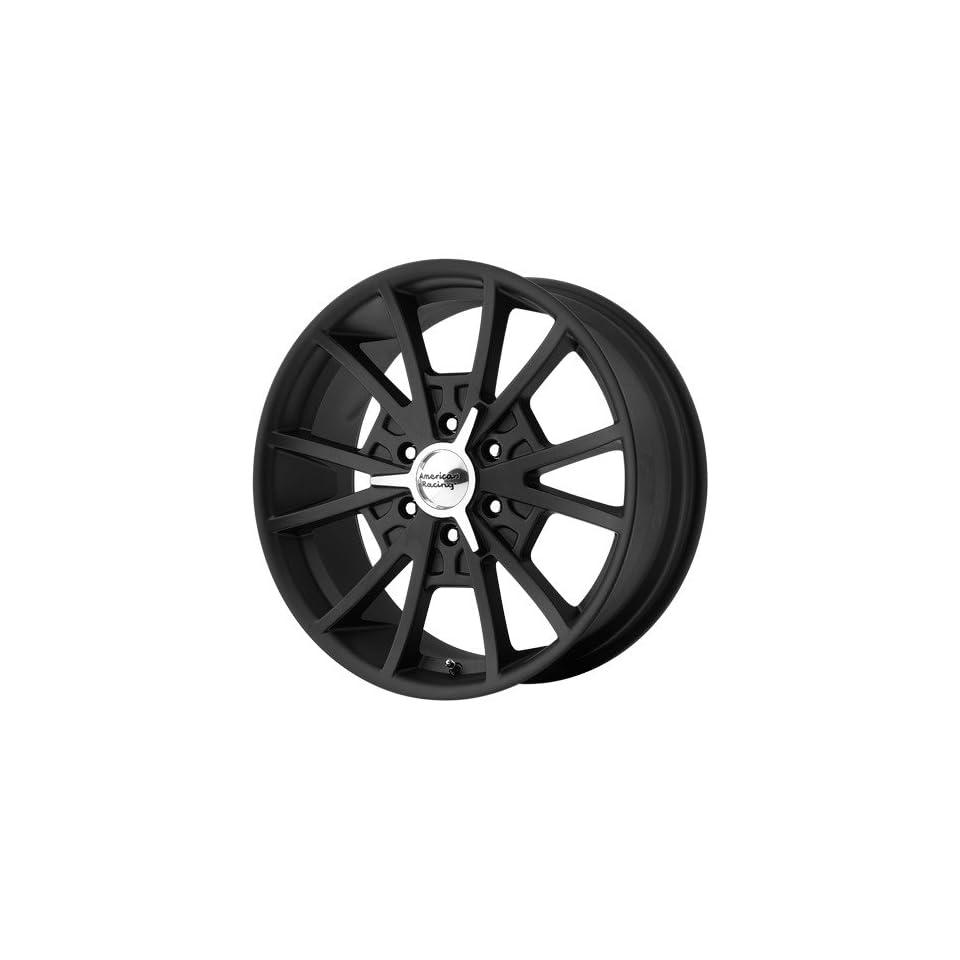 22x9 American Racing El Rey (Satin Black / Machined) Wheels/Rims 6x135 (VN80322963735)