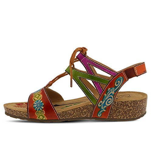 Women's Spring Sandals Step Low Multi L'Artiste Camel Heel Loma by OrwqOH1