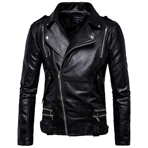 Paragraph United And The Pu Short States Leather Men's Winter B016 Coat Locomotive New Europe Jackets TgcwqZA1