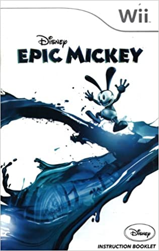 Epic Mickey Wii Instruction Booklet Nintendo Wii Manual Only No