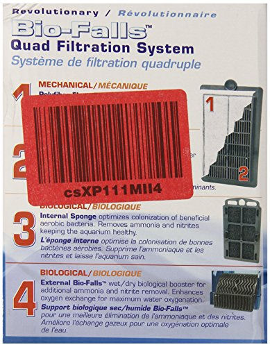 Penn Plax Cascade Hang-on Aquarium Filter with Quad Filtration System Cleans Up to 20 Gallon Tank