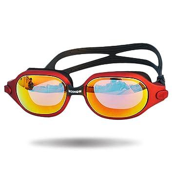 Gafas de natación con sello azul marino, gafas de natación premium anti empañamiento con junta