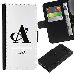 A White minimalista Negro- la tarjeta de Crédito Slots PU Funda de cuero Monedero caso cubierta de piel Para Samsung Galaxy S3 III i9300 i747