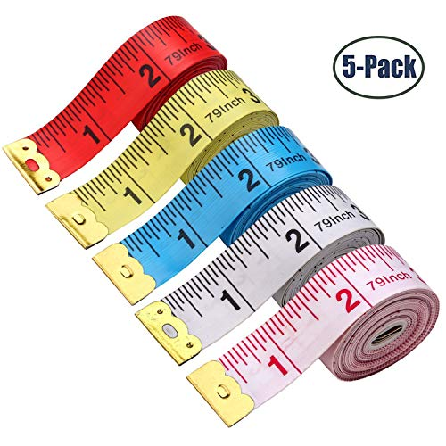 - BUSHIBU 5 Piece Body Measuring Ruler Sewing Tailor Tape Measure Soft Flexible 79'' /200 cm Colorful