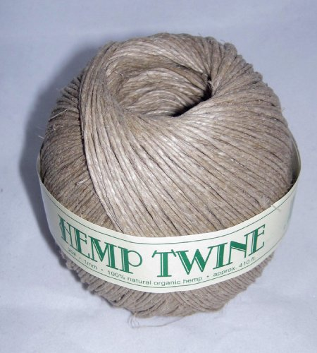 1mm 20# Hemp Twine Cording 100% Natural Organic - 20# 1mm approx. 410ft