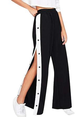 pantaloni con bottoni laterali donna adidas