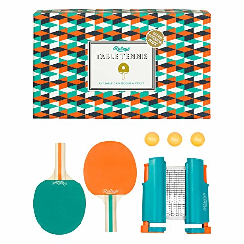 Ridley's 6 Piece Portable and Retractable Boxed Table Tennis To Go Set by Ridley's