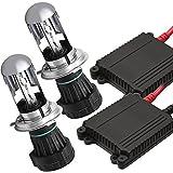 激安爆光 極薄HIDキット55W H4兼用型 6000K 極輝型バルブ  極薄安定型 快速点灯 ヘッドライト/フォグランプ対応 1年保証