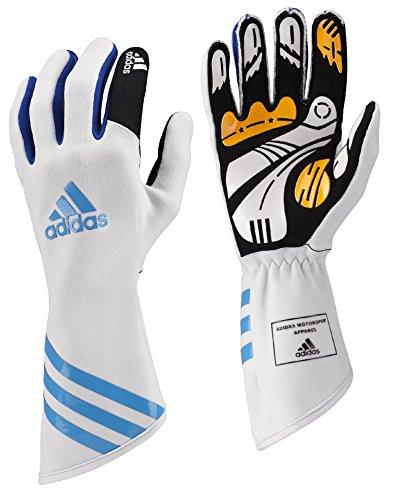 adidas Kart XLT Gloves (S, White/Cyan) ()