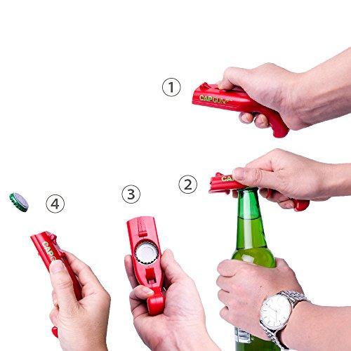 Cap Gun Launcher Shooter Bottle Opener,Beer Openers - Shoots Over 5 Meters (Gray) by Frola (Image #4)