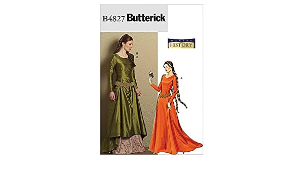 Amazon.com: Butterick Ladies Sewing Pattern 4827 Historical Costume Medieval Dress & Belt: Making History: Home & Kitchen