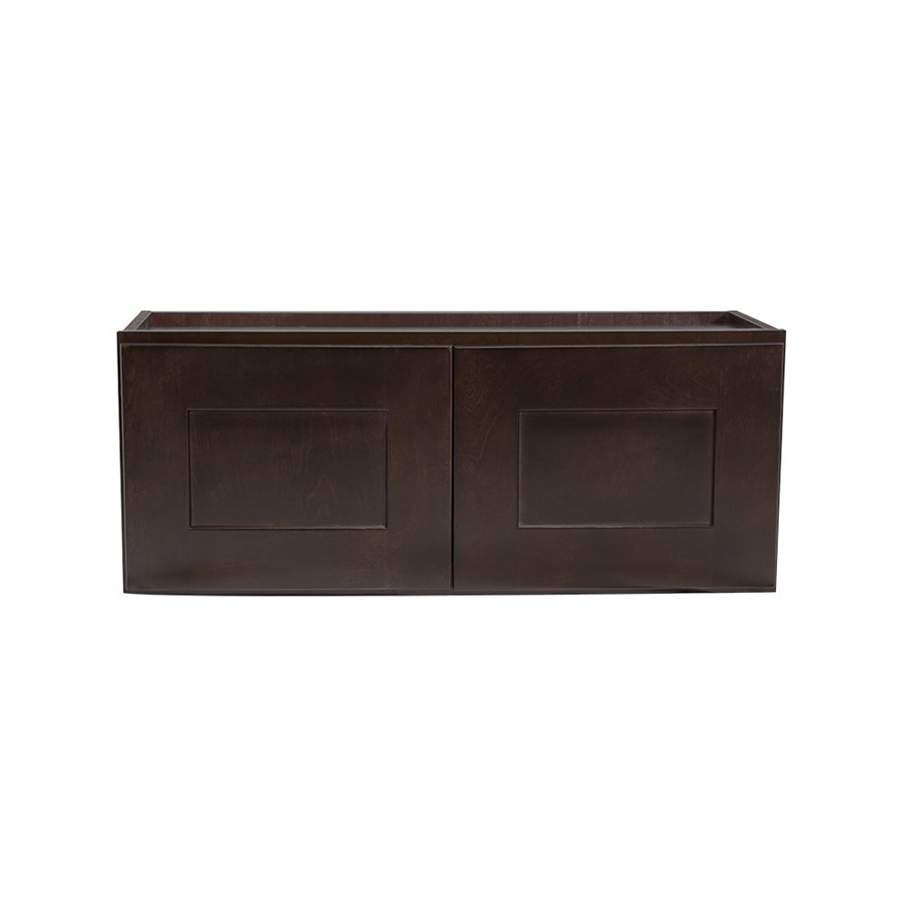 Design House 569152 Brookings Fully Shaker Wall 33x12x12 Espresso Assembled Kitchen Cabinets
