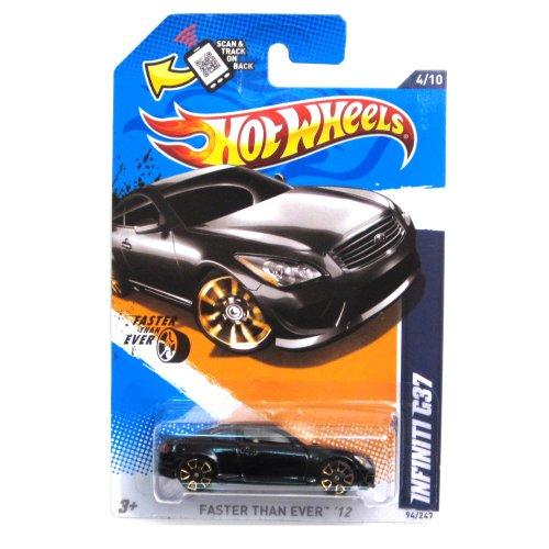 Hot Wheels Infiniti G37 Black 2012 Faster Than Ever Card 94