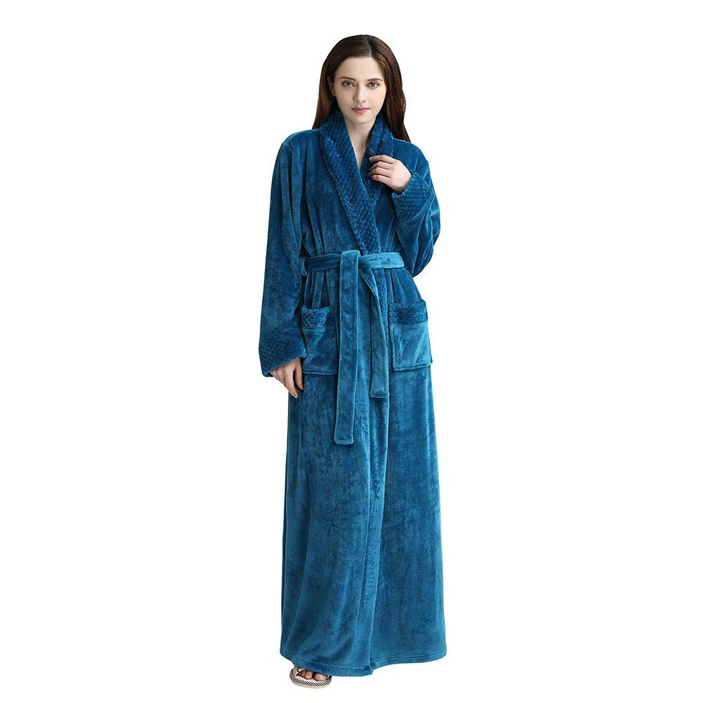 Buy Unisex Bathrobes Luxury Ladies Dressing Gowns Wrap Around Housecoat  Nightwear Lounge Wears with Pockets and Belt Online at Low Prices in India  - Amazon. ... 5ac19c2c1