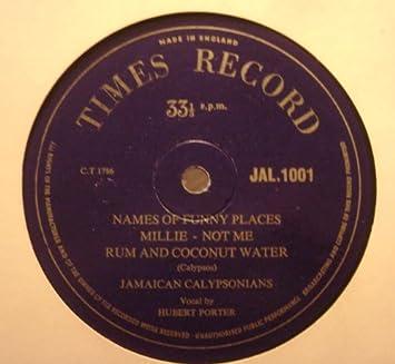 Jamaican Calypsonians - Names Of Funny Places-Miss Goosie