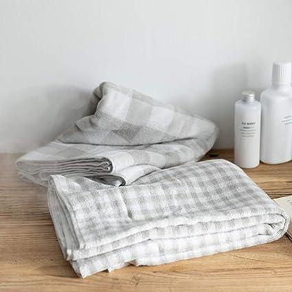 WLLLO Toallas de algodón Minimalista, 2 Lavados de algodón, Toallas de baño, Toallas