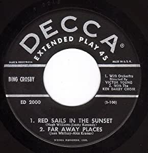 Red sails In The Sunset/Far Way Places/Harbor Lights/ On Treasure Island (VG/VG+ EP PS & 45 rpm)