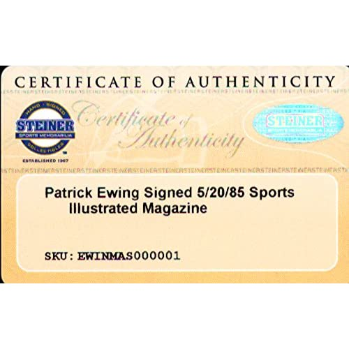 09dca2406e239 Patrick Ewing Signed Sports Illustrated Magazine New York Knicks Steiner   SS018306 - NBA Basketball Memorabilia