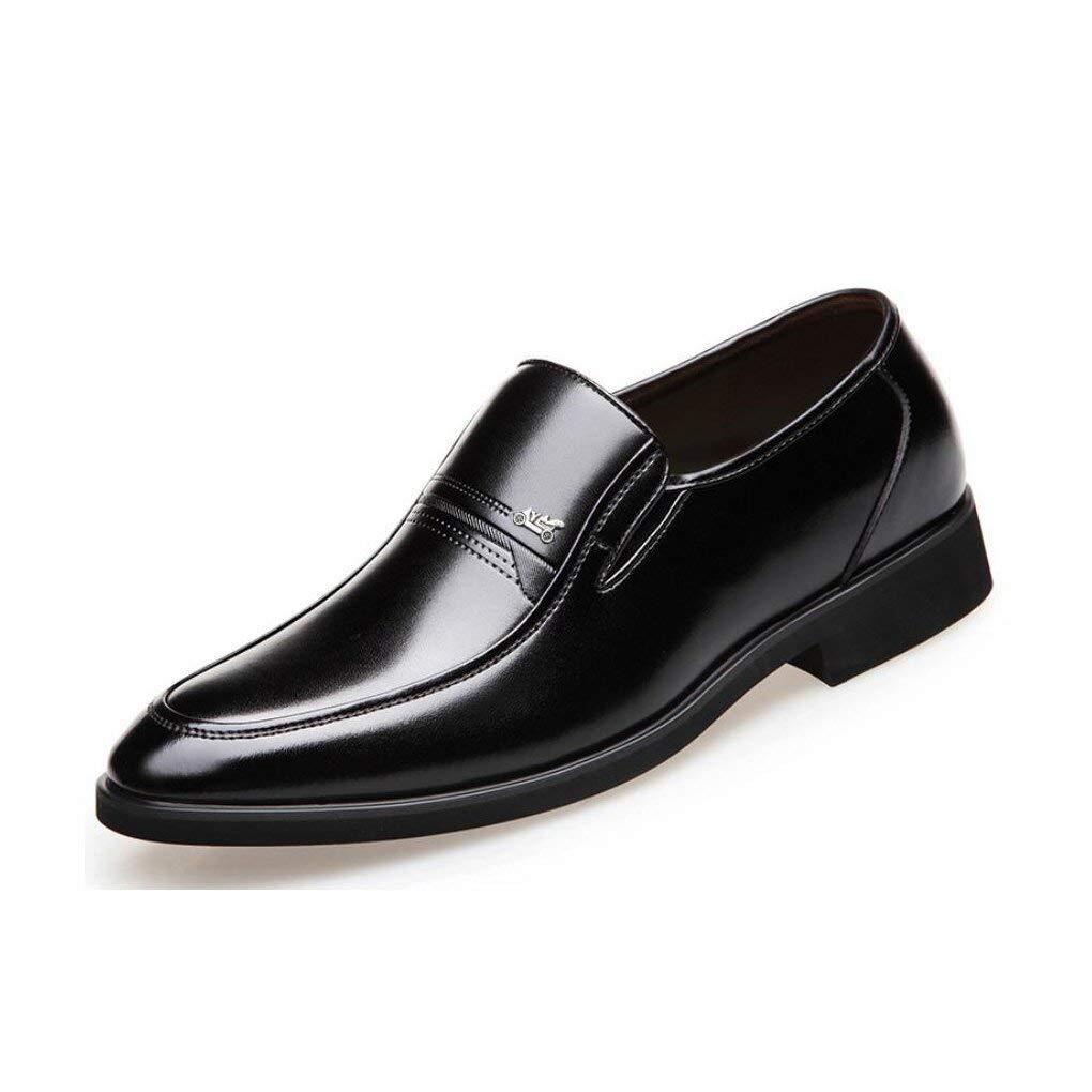 FuweiEncore Mens Formale Schuhe 2018 Frühlings Herbst Herren Lederschuhe Business Casual Atmungsaktive Kleider Schuhe Mittleren Alters Sätze von Füßen Papa Schuhe,schwarz,41