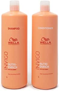 Wella Invigo Nutri Enrich Duo Pack. Deep Nourishing Shampoo 1L and Deep Nourishing Conditioner 1L
